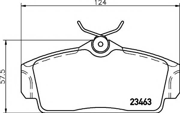 Тормозные колодки Тормозные колодки дисковые Textar ABE арт. 2346302