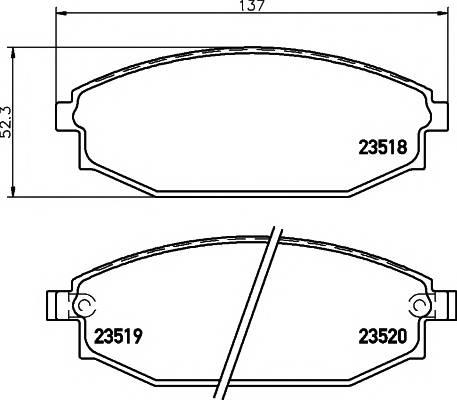 Тормозные колодки Тормозные колодки дисковые TEXTAR PAGID арт. 2351801