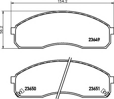 Тормозные колодки Тормозные колодки дисковые ABE арт. 2364901