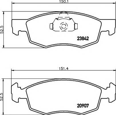 Тормозные колодки Тормозные колодки дисковые ABE арт. 2384201