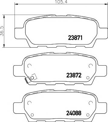 Тормозные колодки Тормозные колодки дисковые TEXTAR PAGID арт. 2387101