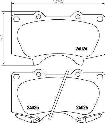 Тормозные колодки Тормозные колодки дисковые TEXTAR ABE арт. 2402401