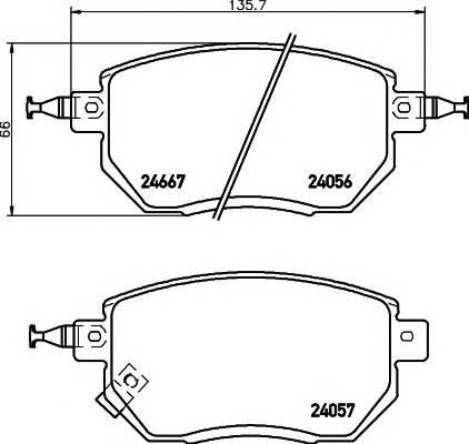 Тормозные колодки Тормозные колодки дисковые TEXTAR ABE арт. 2405601