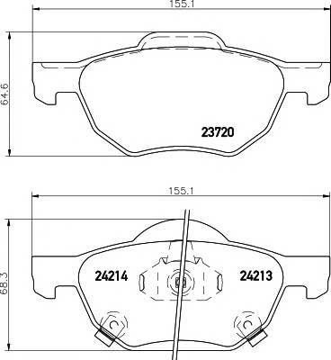 Тормозные колодки Тормозные колодки дисковые TEXTAR ABE арт. 2372001