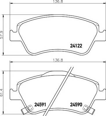 Тормозные колодки Тормозные колодки дисковые Textar ABE арт. 2412201