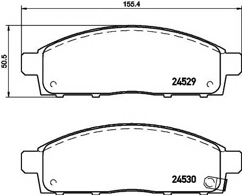 Тормозные колодки Тормозные колодки дисковые TEXTAR ABE арт. 2452901