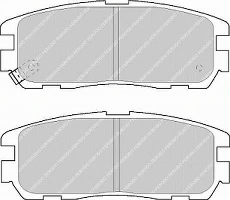 Тормозные колодки Тормозные колодки Ferodo PAGID арт. FDB1017