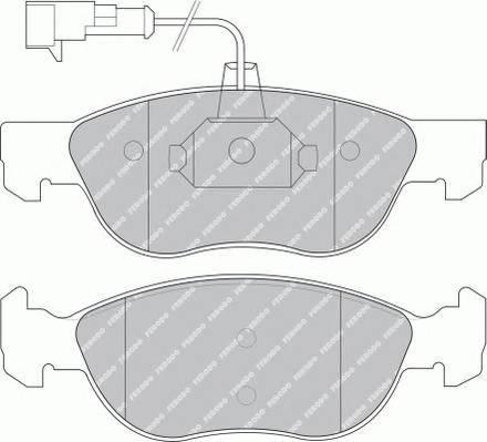 Тормозные колодки Тормозные колодки Ferodo PAGID арт. FDB1056