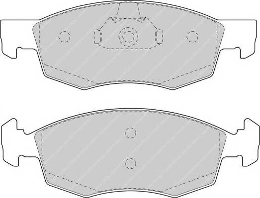 Тормозные колодки Тормозные колодки Ferodo ABE арт. FDB1376