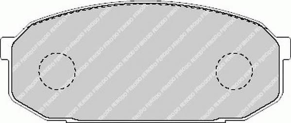 Тормозные колодки Тормозные колодки Ferodo PAGID арт. FDB1503