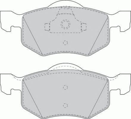 Тормозные колодки Тормозные колодки дисковые ABE арт. FDB1571
