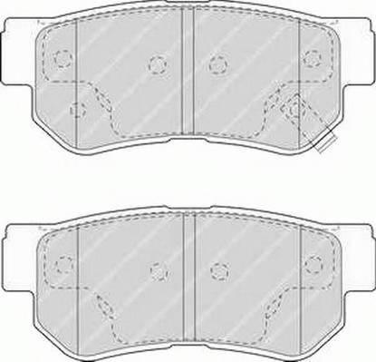 Тормозные колодки Тормозные колодки Ferodo PAGID арт. FDB1606