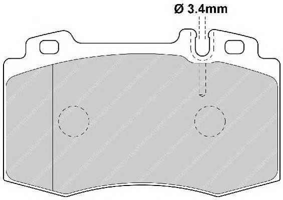 Тормозные колодки Тормозные колодки Ferodo PAGID арт. FDB1661