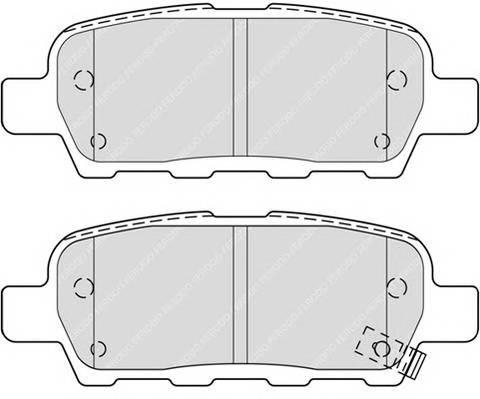 Тормозные колодки Тормозные колодки Ferodo PAGID арт. FDB4324