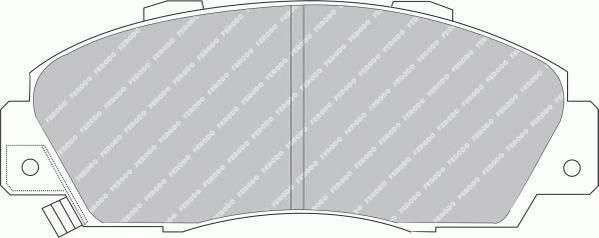 Гальмівні колодки, дискові ABE арт. FDB905