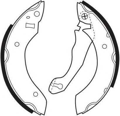 Тормозные колодки Тормозные колодки барабанные FERODO арт. FSB153